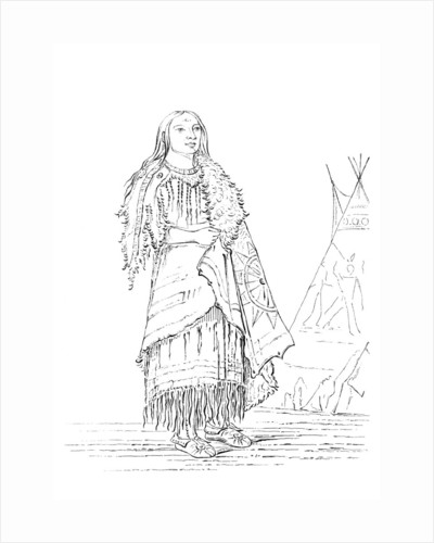 Portrait of 'Woman Who Strikes Many', Native American woman by Myers and Co