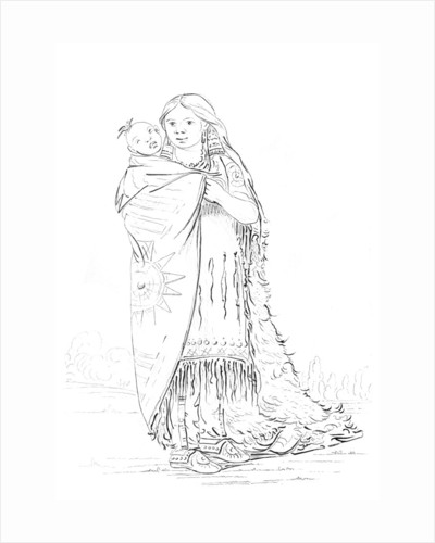 Native American Woman and Baby by Myers and Co