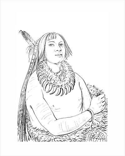 Portrait of 'He Who Rushes Through the Middle', Native American man by Myers and Co