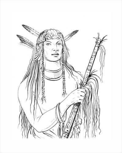 Portrait of 'Mouse Coloured Feather', Native American man by Myers and Co