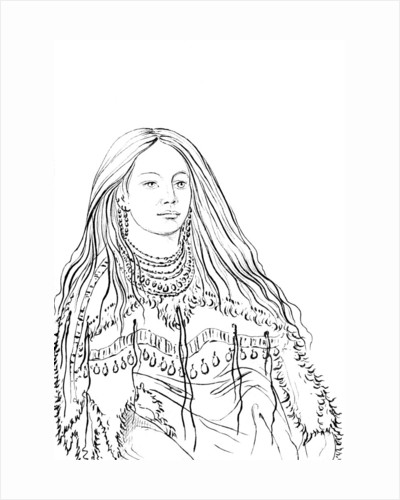 Portrait of 'Mint', Native American woman by Myers and Co