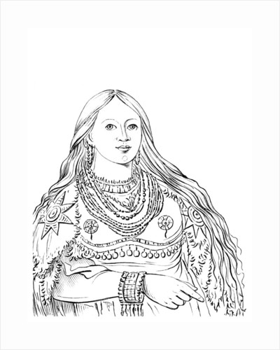 Portrait of 'Mink', Native American woman by Myers and Co
