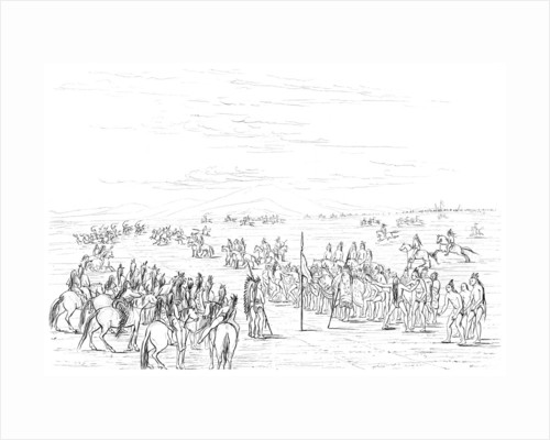 Native American horse race by Myers and Co