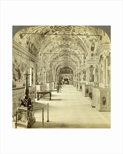 Interior of the Vatican Library, Rome, Italy by Underwood & Underwood
