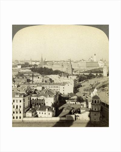 Kremlin Wall, Moscow, Russia by Underwood & Underwood