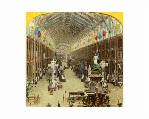 Interior view of the International Exhibition, London by Anonymous