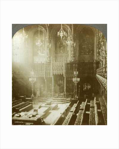 Interior of the House of Lords, Westminster, London by Excelsior Stereoscopic Tours