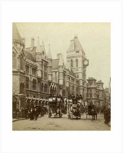 Law Courts, Strand, London by London Stereoscopic & Photographic Co