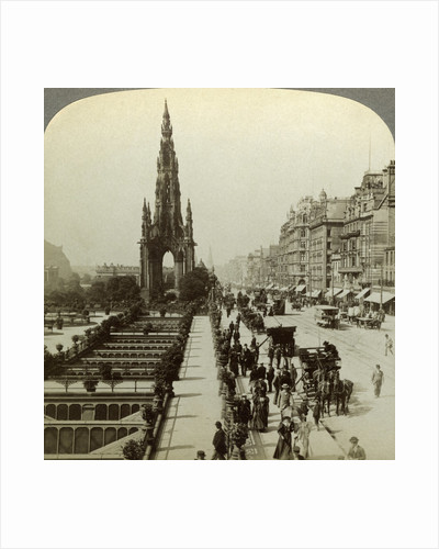 Princes Street and the Scott Monument, Edinburgh, Scotland by Underwood & Underwood