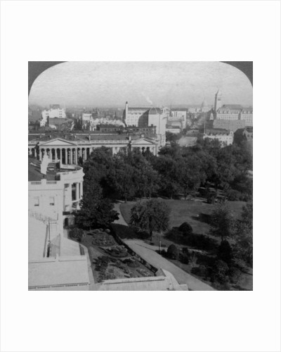 The White House and the Treasury Building, Washington DC, USA by Underwood & Underwood