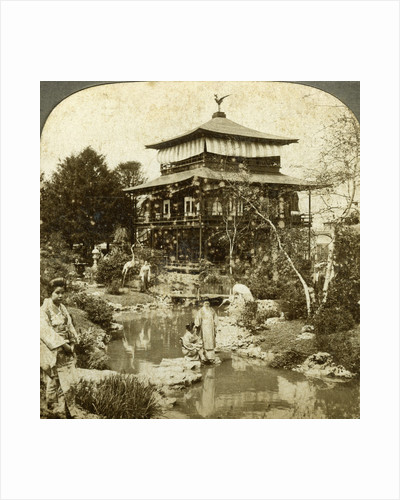 Japanese garden at the World's Fair, St Louis, Missouri, USA by Underwood & Underwood