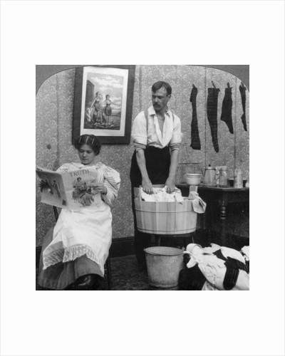 The New Woman, Wash Day by American Stereoscopic Company