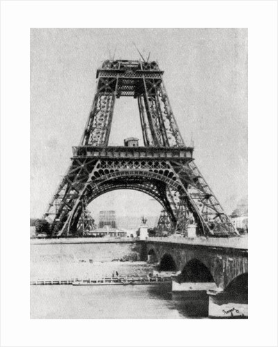 The Eiffel Tower under construction, Paris by Anonymous