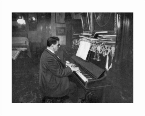 Edouard Herriot, French Radical politician, playing the piano by Anonymous
