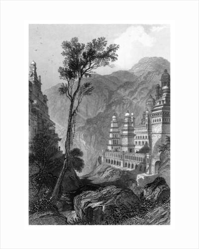 Jain Temples, Muktagerri, Specimens of Hindu Architecture by Finden