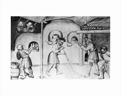 Medieval glassworks by Anonymous