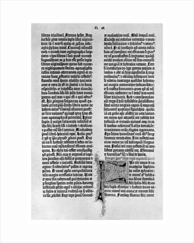 Page from a Gutenberg Bible by Anonymous