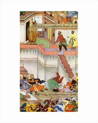 The killing of Adham Khan by Akbar by Anonymous