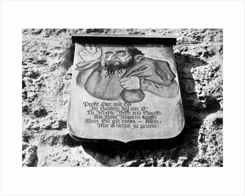 Anti-semitism: medieval inscription on the town wall, Rothenburg, Germany by Anonymous