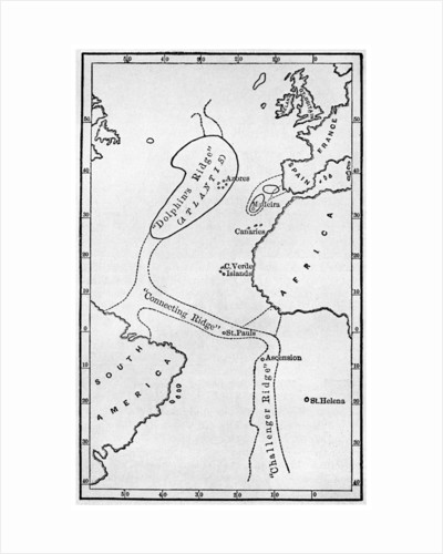 Atlantis: a map showing the location of the mythical continent by Anonymous