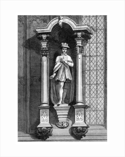 The statue of Edward VI, from the front of the Guildhall Chapel, City of London by William Griggs