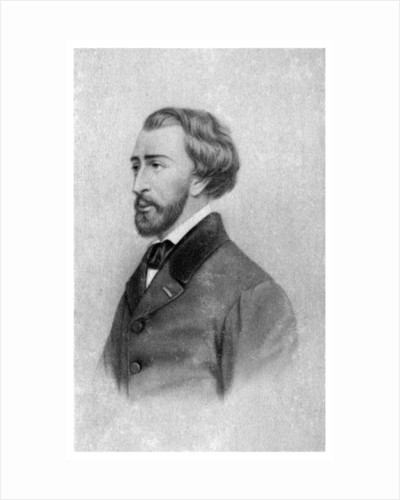 Alfred de Musset, French Romantic playwright, poet and painter, c1845-1890) by Anonymous