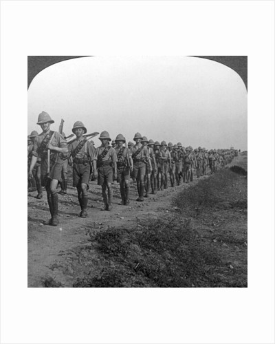 British soldiers marching through the desert to Baghdad, World War I by Realistic Travels Publishers