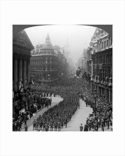 Victory march of London's regiments, saluting the Lord Mayor by Realistic Travels Publishers