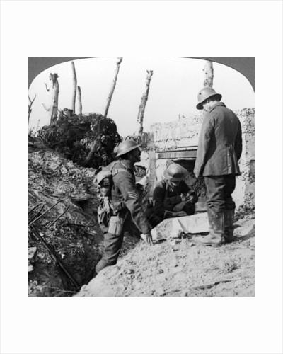 Captured German blockhouse, Poelecappelle, Belgium, World War I by Realistic Travels Publishers
