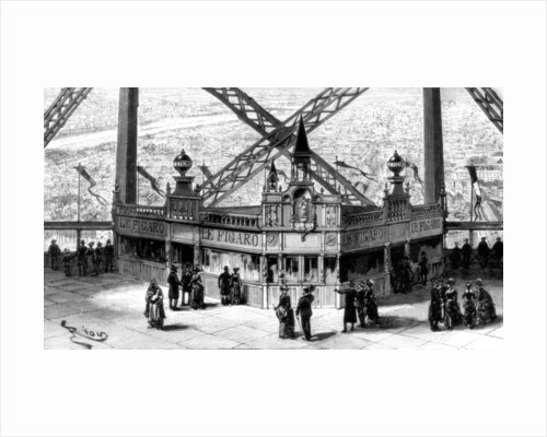 The pavilion of the Figaro, on the second storey of the Eiffel Tower, Paris by Anonymous