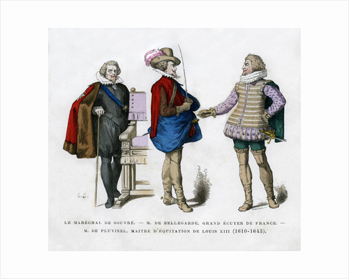 The Marshal of Souvre, M de Bellegarde and M de Pluvinel by Anonymous