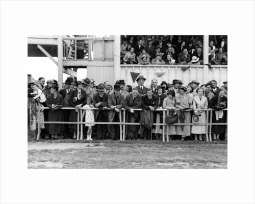 Crowd at the races by Anonymous