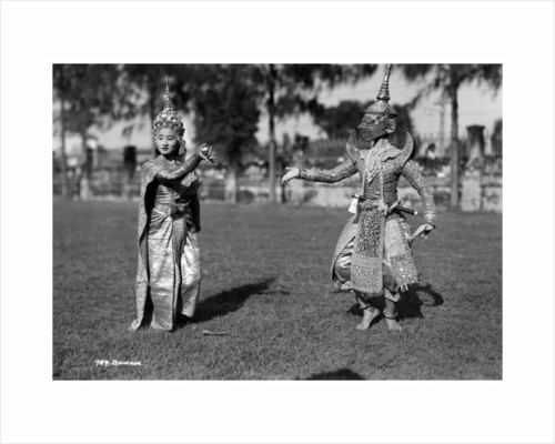 Dancers in traditional dress, Bangkok, Thailand by Anonymous