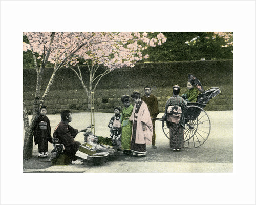 A street merchant, Japan by Anonymous
