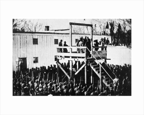 The hanging of Henry Wirz, Washington DC, USA by Anonymous