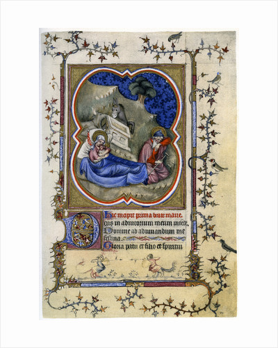 The Nativity, from a Book of Hours and Missal c1370 by Anonymous