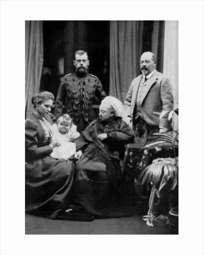 Russian and British royal families at Balmoral, Scotland by W&D Downey