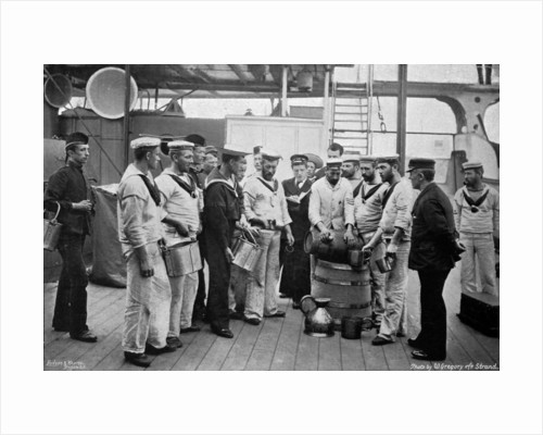 Issuing rum on board HMS Royal Sovereign by W Gregory