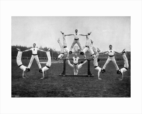 Display by the Aldershot gymnastic staff, Hampshire by Gregory & Co