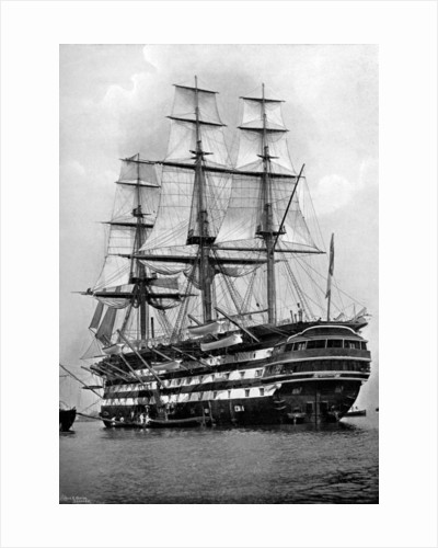 The training ship HMS St Vincent at Portsmouth, Hampshire by Symonds & Co