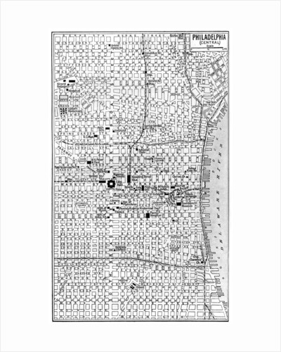 Map of central Philadelphia, Pennsylvania, USA by Anonymous