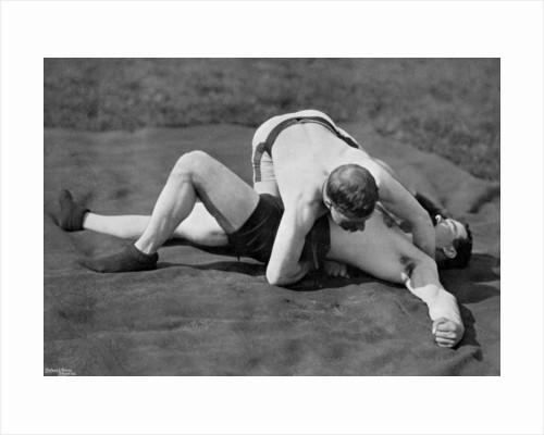 A good fall, wrestling display, Aldershot, Hampshire by Gregory & Co