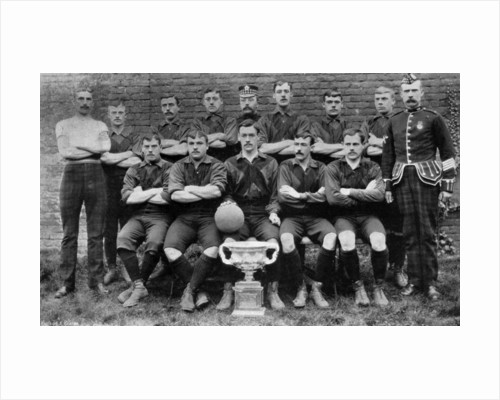 Football team of the 1st Royal Scots (Lothian Regiment) by Anonymous