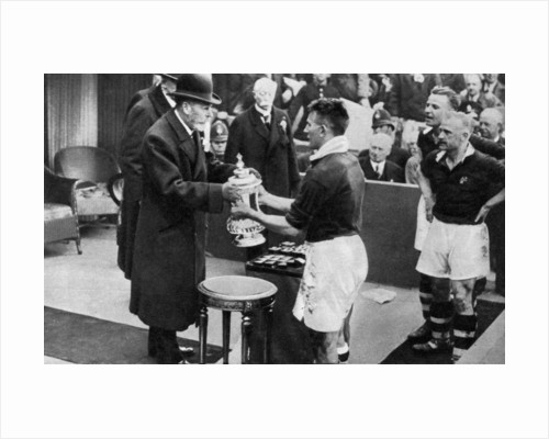 King George V presenting the FA Cup, Wembley Stadium, London by Fox