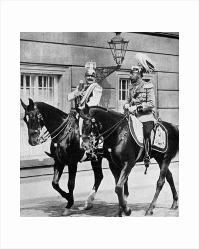 King George V of Great Britain and Kaiser Wilhelm II of Germany by Anonymous
