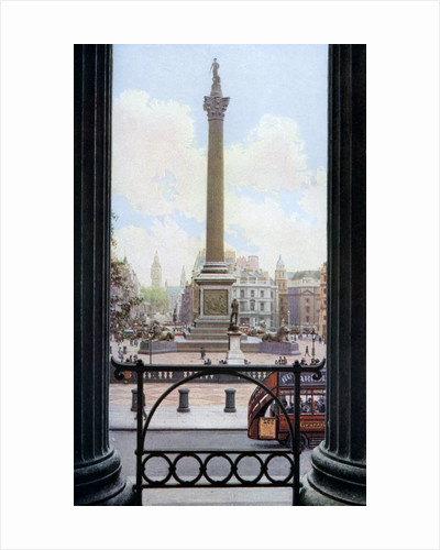 Nelson's Column and Trafalgar Square from the terrace of the National Gallery, London by Spencer Arnold
