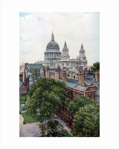 View from the Old Bailey towards St Paul's Cathedral, London by WS Campbell