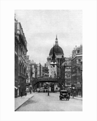 St Paul's Cathedral from Fleet Street on a Sunday, London by Anonymous