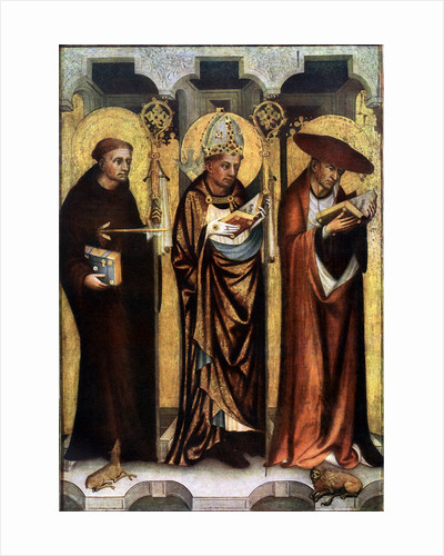 St Giles, St Gregory, and St Jerome by Master of the Trebon Altarpiece