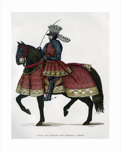 Louis XII, King of France, on horseback by Gautier